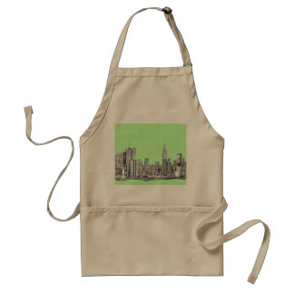 New York lime green Adult Apron