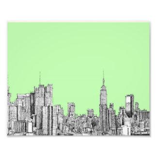 New York lime green Photographic Print