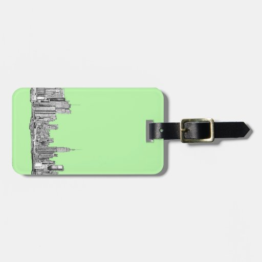New York lime green Tag For Bags