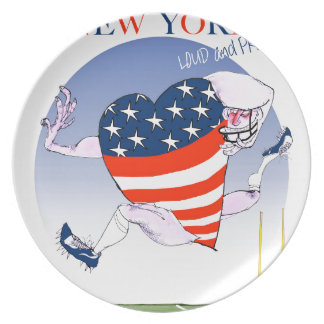 new york loud and proud, tony fernandes dinner plate