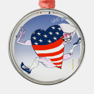new york loud and proud, tony fernandes metal ornament