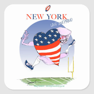 new york loud and proud, tony fernandes square sticker