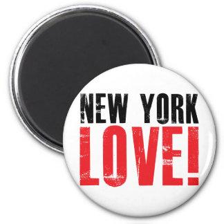 New York Love 2 Inch Round Magnet