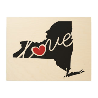 New York Love!  Gifts for NY Lovers Wood Wall Art