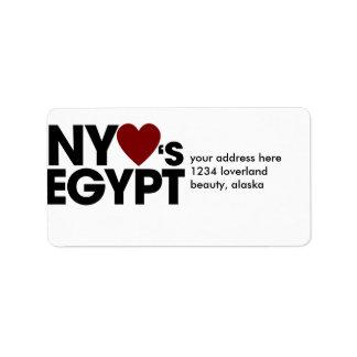 New york LOVES Egypt Label