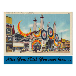 New York, Luna Park, Coney Island Postcard