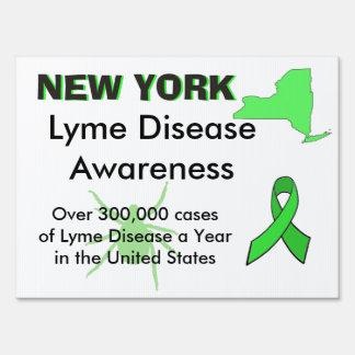 New York Lyme Disease Awareness Yard Sign