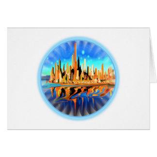 New York Magic City Greeting Card