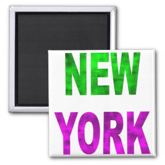 New York 2 Inch Square Magnet