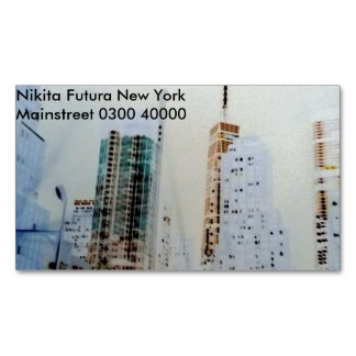 New York magnetic photography business card