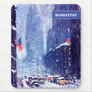 New York, Manhattan. Christmas Gift Mousepad