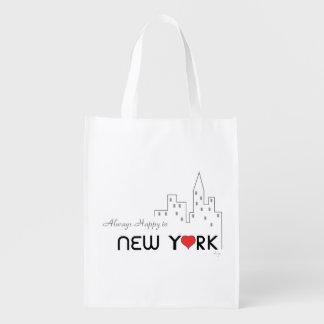 New York, Manhattan, Love, Cool Grocery Bag