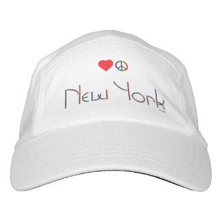 New York, Manhattan, Peace, Love Adjustable Hat