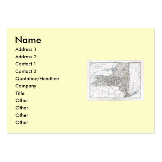 New York Map and State Flag Large Business Cards (Pack Of 100)