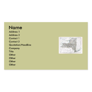 New York Map and State Flag Business Cards