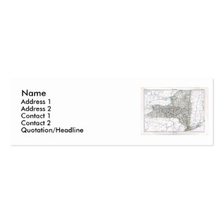 New York Map and State Flag Double-Sided Mini Business Cards (Pack Of 20)