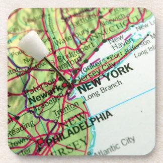 New York Map Beverage Coaster