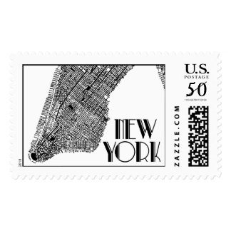 New York Map Black | Atelier Isabey Stamps