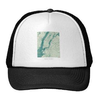 New York Map Blue Vintage Watercolor Trucker Hat