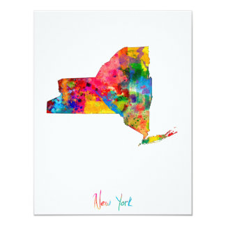 New York Map Card