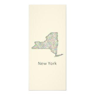 New York map Card