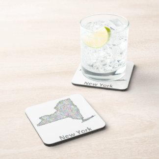 New York map Beverage Coasters