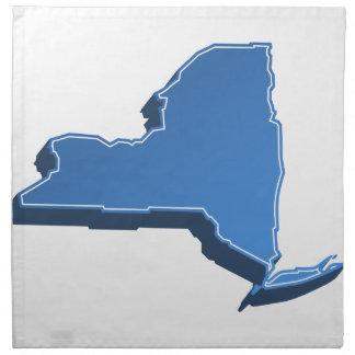 New York Map Icon Cloth Napkin