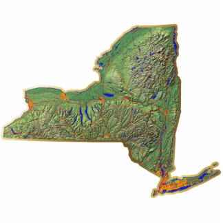 New York Map Keychain Cut Out
