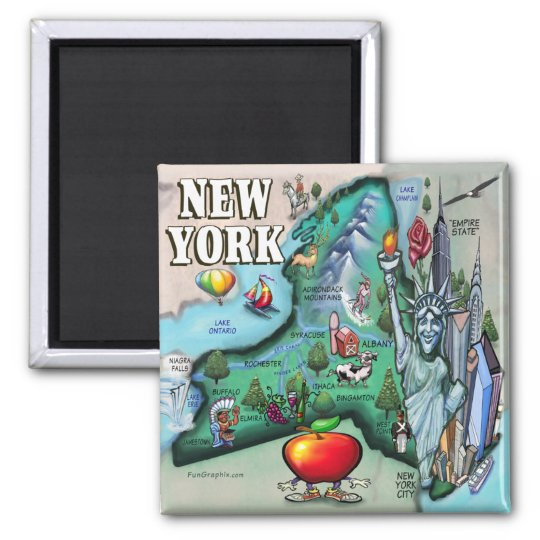 New York Map Magnet