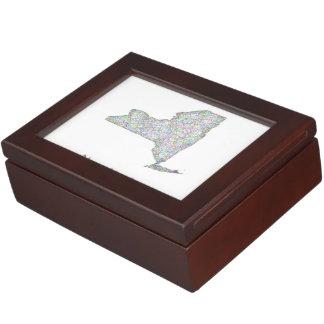 New York map Memory Box