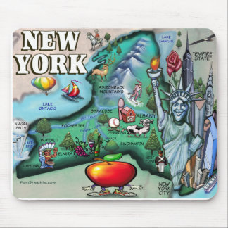 New York Map Mouse Pad