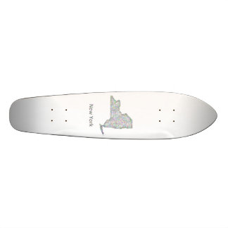 New York map Skateboard Decks