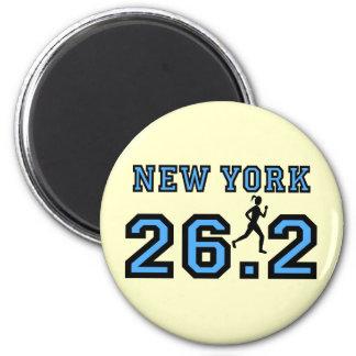 New York Marathon 2 Inch Round Magnet
