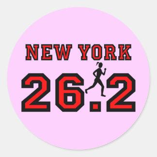 New York Marathon Classic Round Sticker