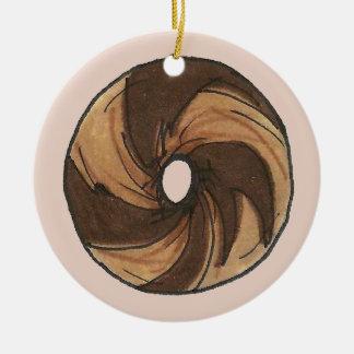 New York Marble Rye Bagel Christmas Ornament