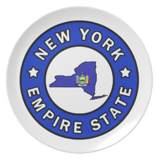 New York Melamine Plate