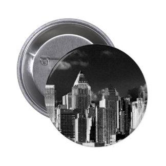 New York, metallic Buttons