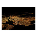 New York Metro Aerial Night Special 23x34 Poster