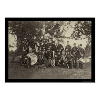 New York Militia Military Band, Arlington, VA 1861 Poster