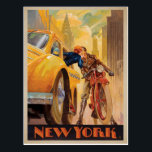 """New York Minute Postcard<br><div class=""""desc"""">Anderson Design Group is an award-winning illustration and design firm in Nashville,  Tennessee. Founder Joel Anderson directs a team of talented artists to create original poster art that looks like classic vintage advertising prints from the 1920s to the 1960s.</div>"""