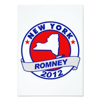 New York Mitt Romney 5x7 Paper Invitation Card