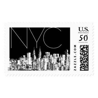 New York Modern Skyline B | Atelier Isabey Stamps