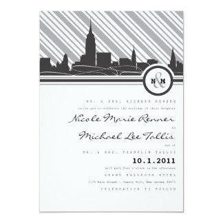 New York Monogram Wedding Invitation