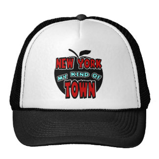 New York My Kind Of Town With Big Apple Hats