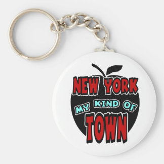 New York My Kind Of Town With Big Apple Keychain