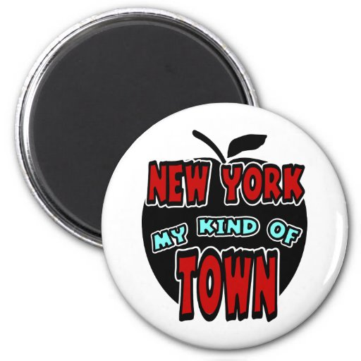 New York My Kind Of Town With Big Apple Fridge Magnets