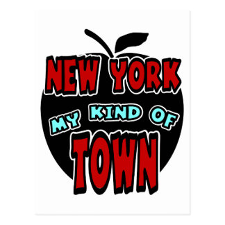 New York My Kind Of Town With Big Apple Postcard
