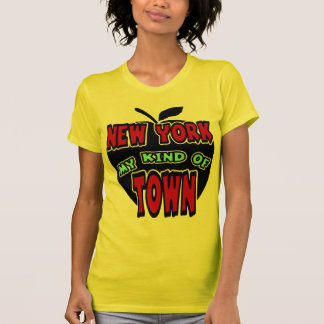 New York My Kind Of Town With Big Apple T-Shirt