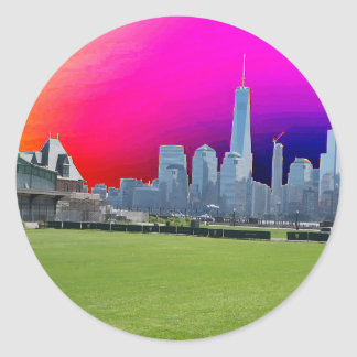 New York n Atalantic Beach Photography Navin Joshi Classic Round Sticker