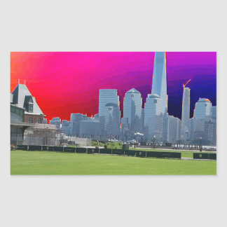 New York n Atalantic Beach Photography Navin Joshi Rectangular Sticker
